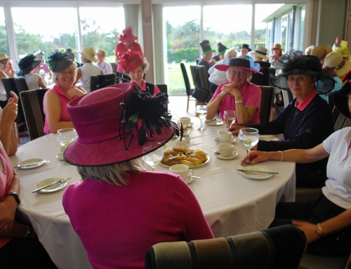 Hats On for the Lady Captain's Charity Day. Afternoon Tea at C.G.C.