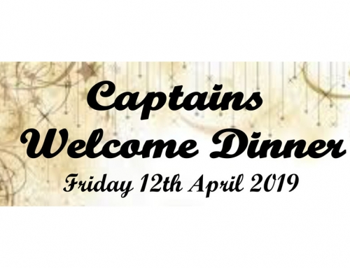 Captain's Welcome Dinner 2019